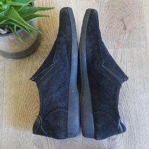 Cesar Paciotti black suede shoes